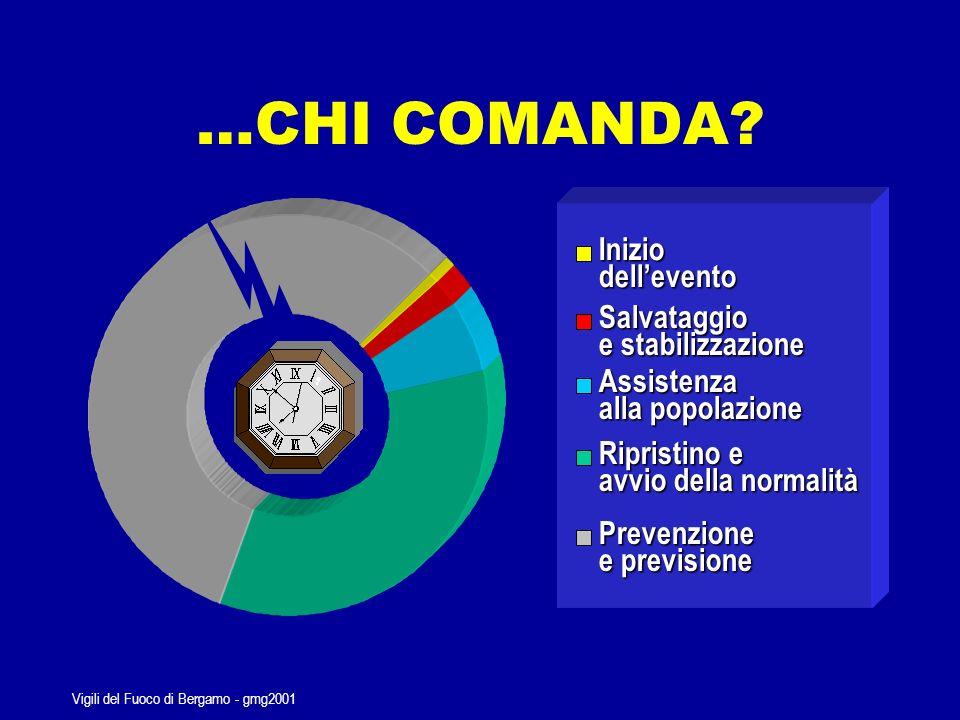 Vigili del Fuoco di Bergamo - gmg2001 Gradi di difficoltà di gestione delle emergenze e relativi strumenti di management