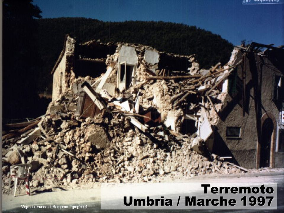 Vigili del Fuoco di Bergamo - gmg2001 Strumenti di management nelle emergenze Scenari predeterminati Scenari non predeterminati Piani di emergenza Procedure Operative Standard e Protocolli di Intesa tra le componenti di protezione civile