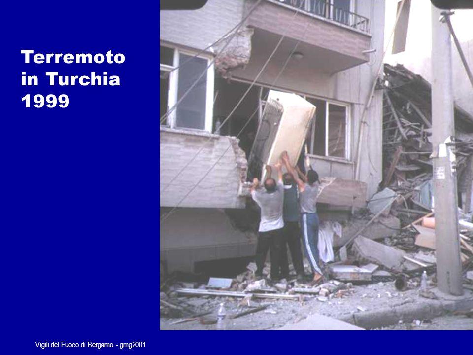 Vigili del Fuoco di Bergamo - gmg2001 Rovesciamento autoarticolato carico di acqua minerale Valle Brembana Anno 2000...sempre le stesse priorità…