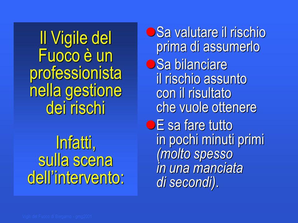 Vigili del Fuoco di Bergamo - gmg2001 Gli strumenti operativi per il comando ed il controllo degli scenari incidentali sono: Documenti di pianificazione per scenari predeterminati o P.O.S.