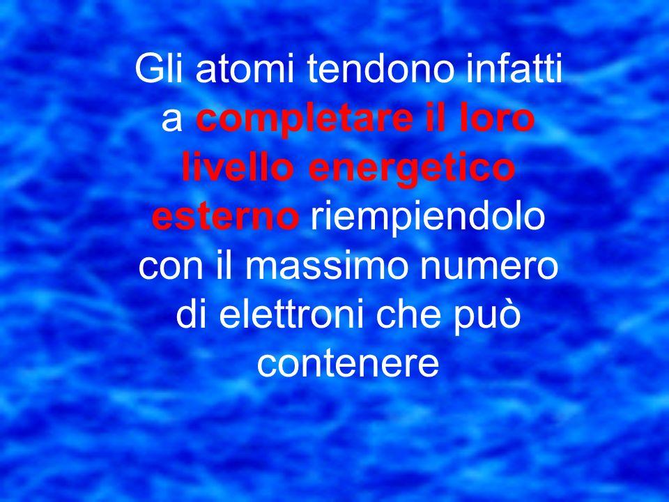 Lossigeno ha 6 elettroni nellorbitale più esterno che è completo con 8 elettroni Questo elemento tenderà ad attrarre 2 elettroni per raggiungere una c