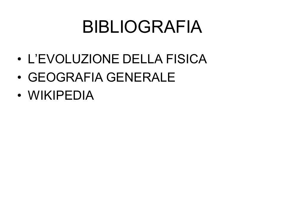 BIBLIOGRAFIA LEVOLUZIONE DELLA FISICA GEOGRAFIA GENERALE WIKIPEDIA
