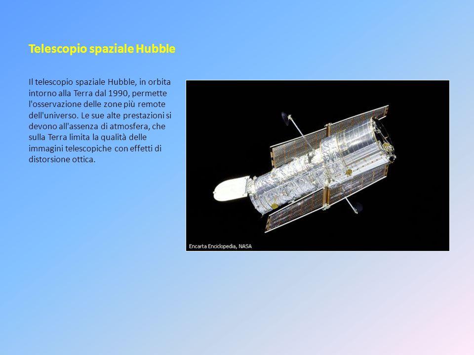 Telescopio spaziale Hubble Il telescopio spaziale Hubble, in orbita intorno alla Terra dal 1990, permette l'osservazione delle zone più remote dell'un