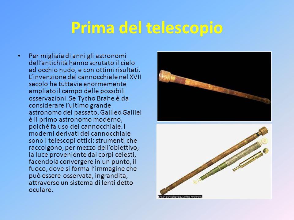 Telescopio Il telescopio è un dispositivo che permette di osservare oggetti lontani e di debole luminosità, fornendone unimmagine ingrandita e più luminosa.