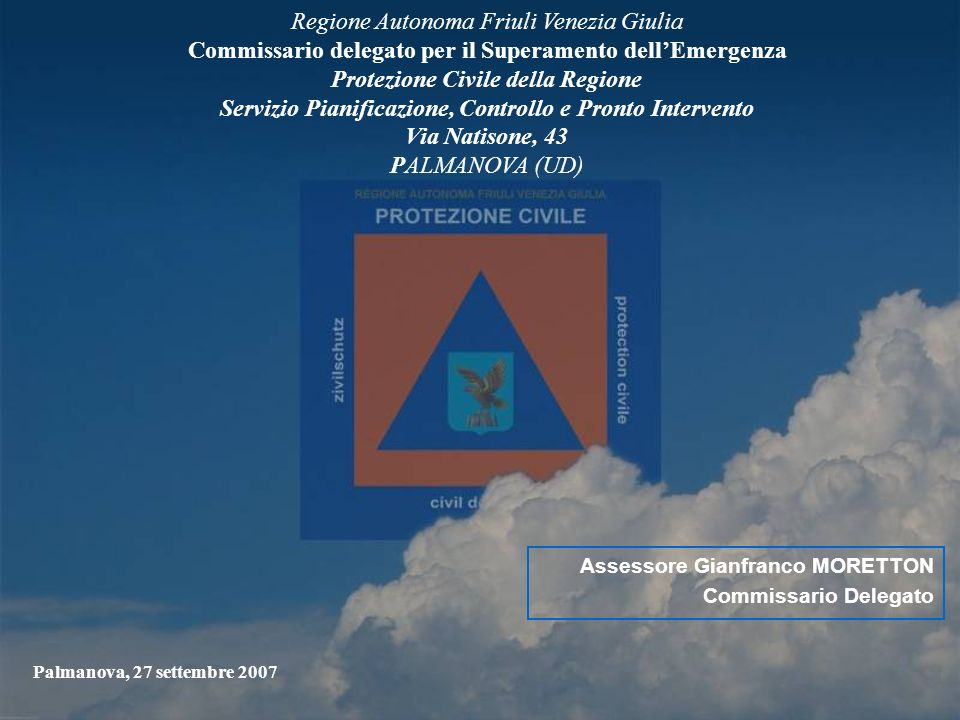 2 INTERVENTO URGENTE DI PROTEZIONE CIVILE IN COMUNE DI BRUGNERA PER LA SISTEMAZIONE IDRAULICA DEL FOSSO ARMER E RETE IDRAULICA MINORE A SALVAGUARDIA DELLA PUBBLICA INCOLUMITA, DELLA VIABILITA COMUNALE E DEI CENTRI ABITATI - CD3/486.003 COMUNE DI BRUGNERA