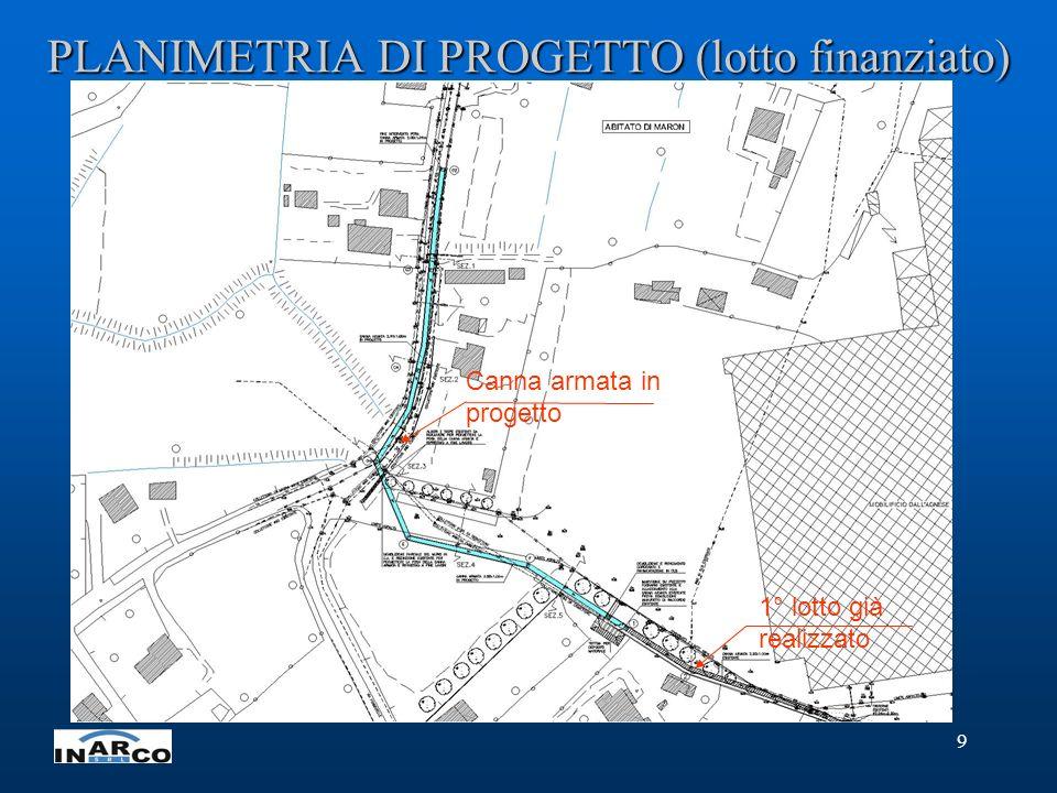 10 PROFILO GENERALE DI PROGETTO (tratto a monte)
