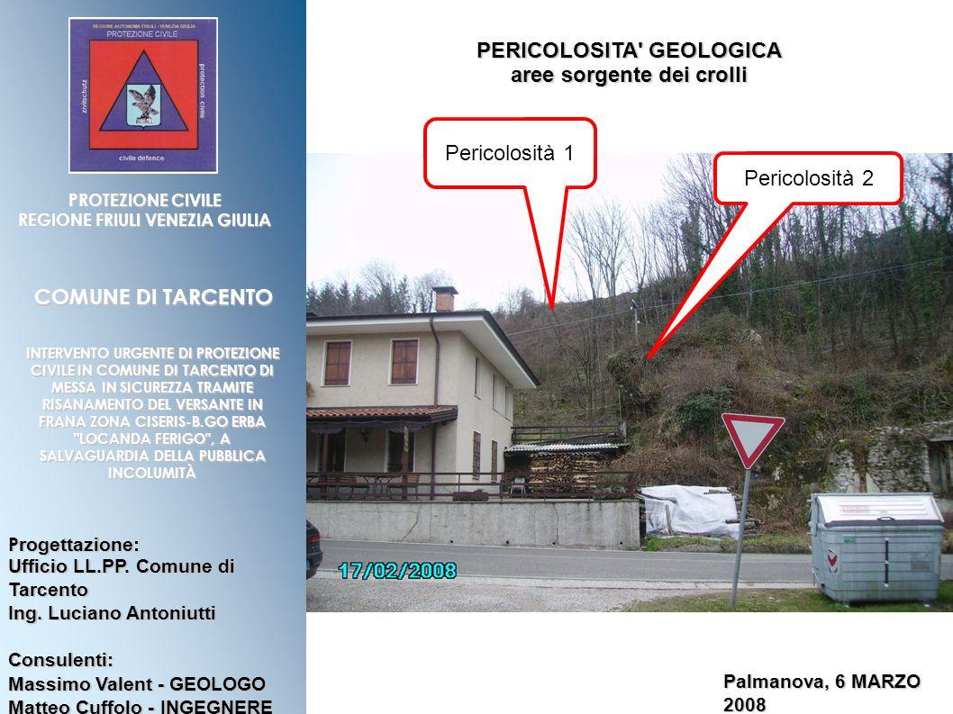 P rogettazione: Ufficio LL.PP.Comune di Tarcento Ing.