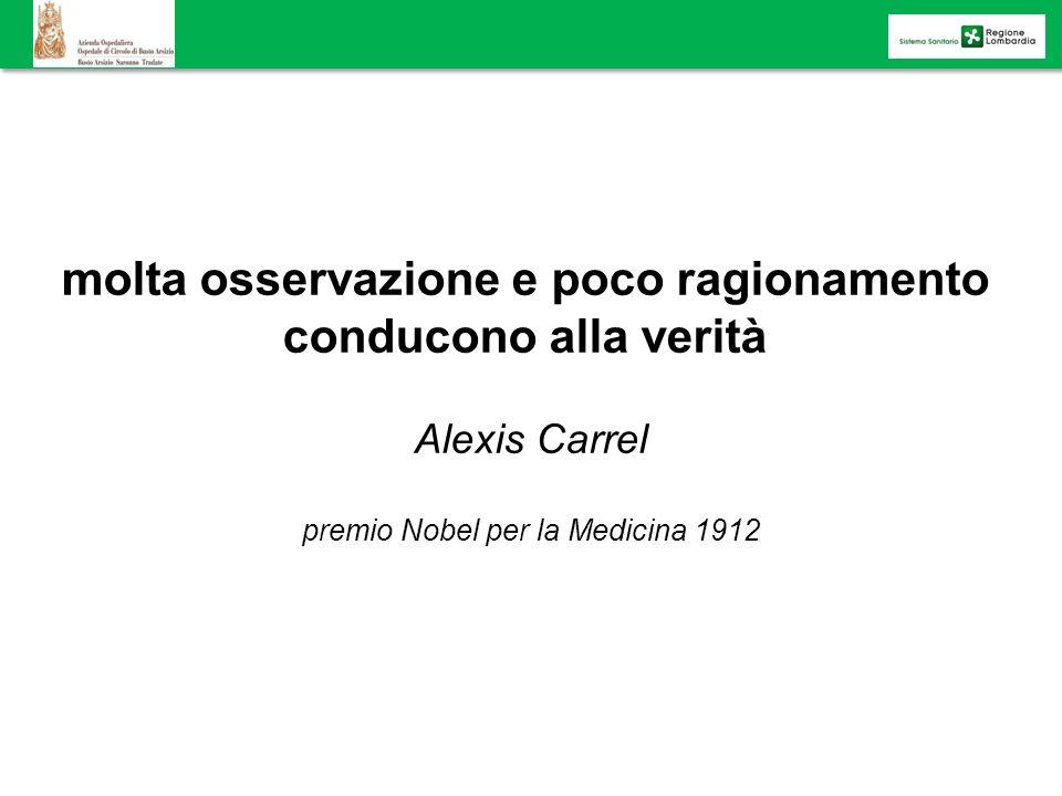 molta osservazione e poco ragionamento conducono alla verità Alexis Carrel premio Nobel per la Medicina 1912