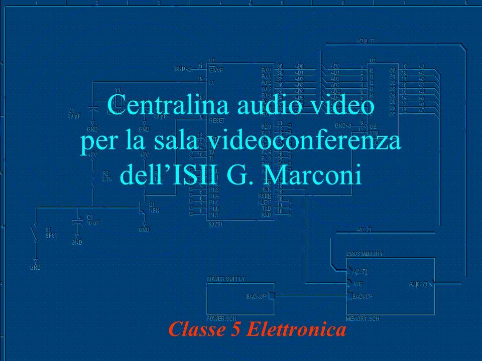 Centralina audio video per la sala videoconferenza dellISII G. Marconi Classe 5 Elettronica