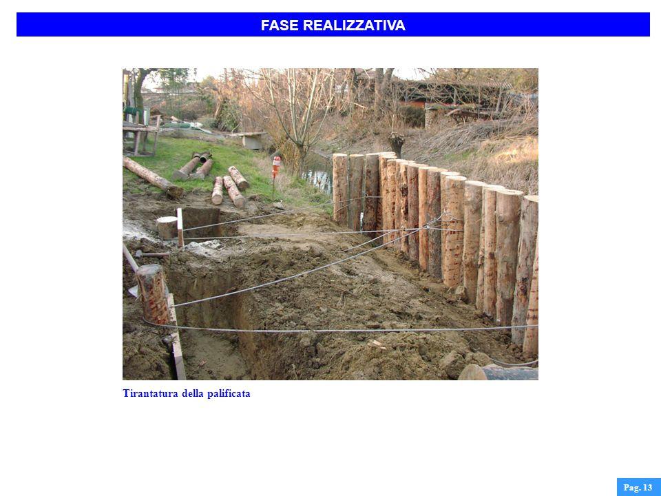 FASE REALIZZATIVA Pag. 13 Tirantatura della palificata
