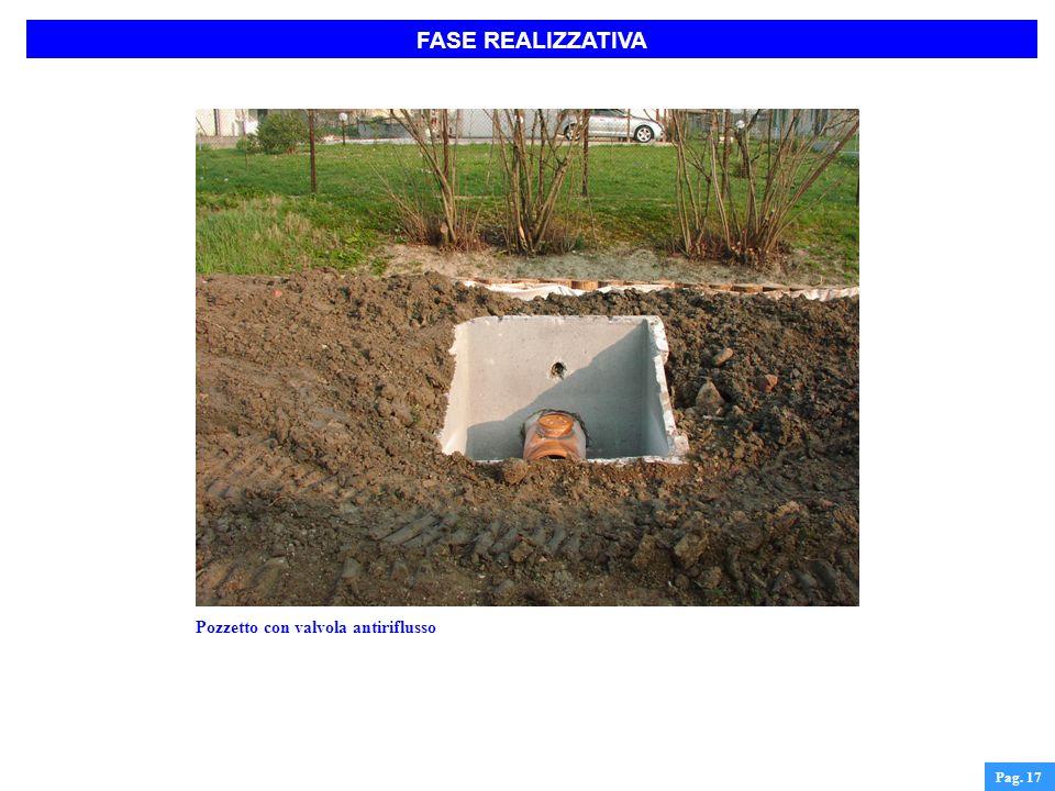 FASE REALIZZATIVA Pag. 17 Pozzetto con valvola antiriflusso