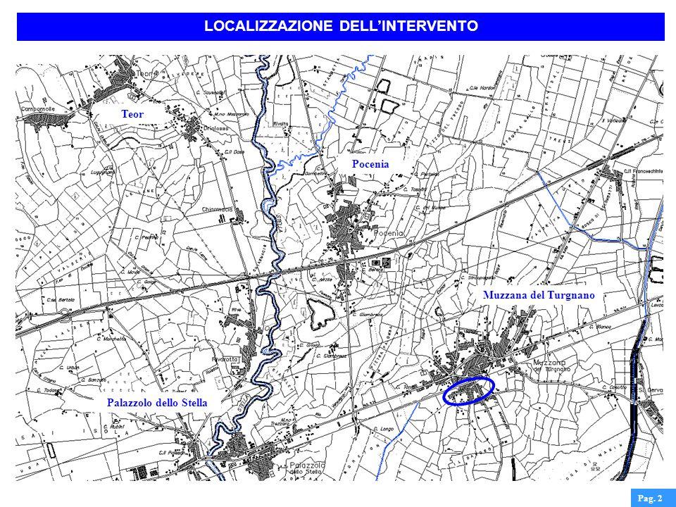 Pag. 2 Pocenia Muzzana del Turgnano Palazzolo dello Stella Teor LOCALIZZAZIONE DELLINTERVENTO