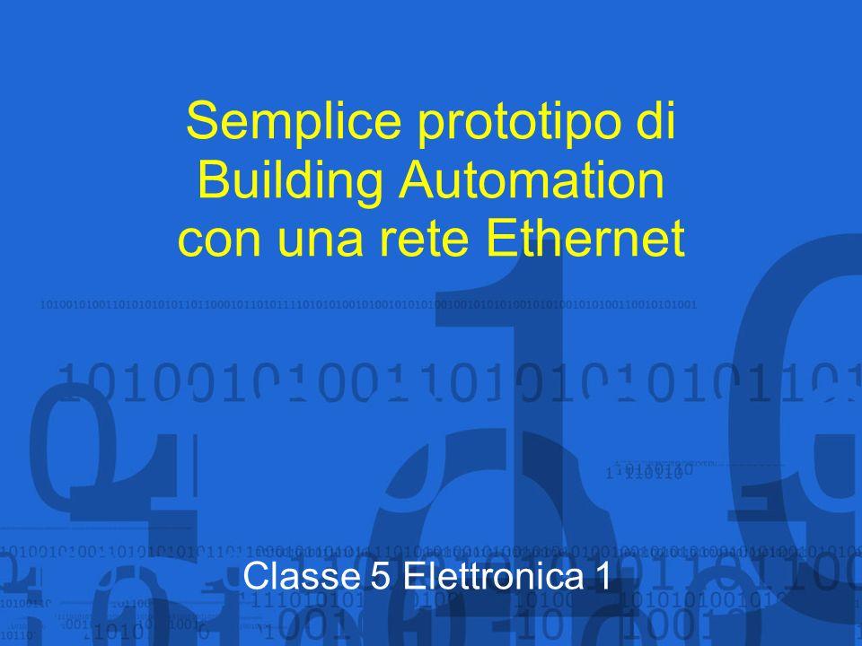 Semplice prototipo di Building Automation con una rete Ethernet Classe 5 Elettronica 1