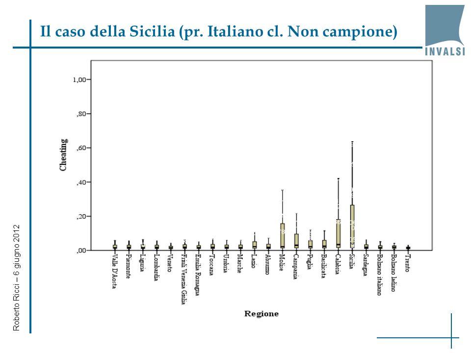 Il caso della Sicilia (pr. Italiano cl. Non campione) Roberto Ricci – 6 giugno 2012