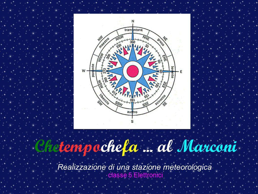 Chetempochefa... al Marconi Realizzazione di una stazione meteorologica classe 5 Elettronici