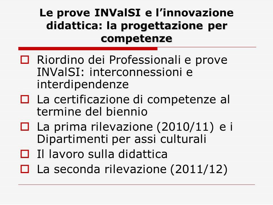 Riordino dei Professionali e prove INValSI: interconnessioni e interdipendenze Le prove INValSi si collocano nel contesto più ampio della riforma del secondo grado: Linee Guida, I e FP, cert.