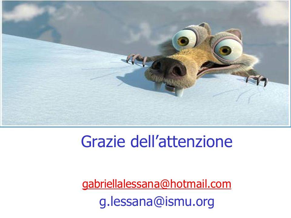 Grazie dellattenzione gabriellalessana@hotmail.com g.lessana@ismu.org