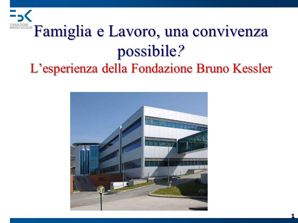 1 Famiglia e Lavoro, una convivenza possibile Lesperienza della Fondazione Bruno Kessler