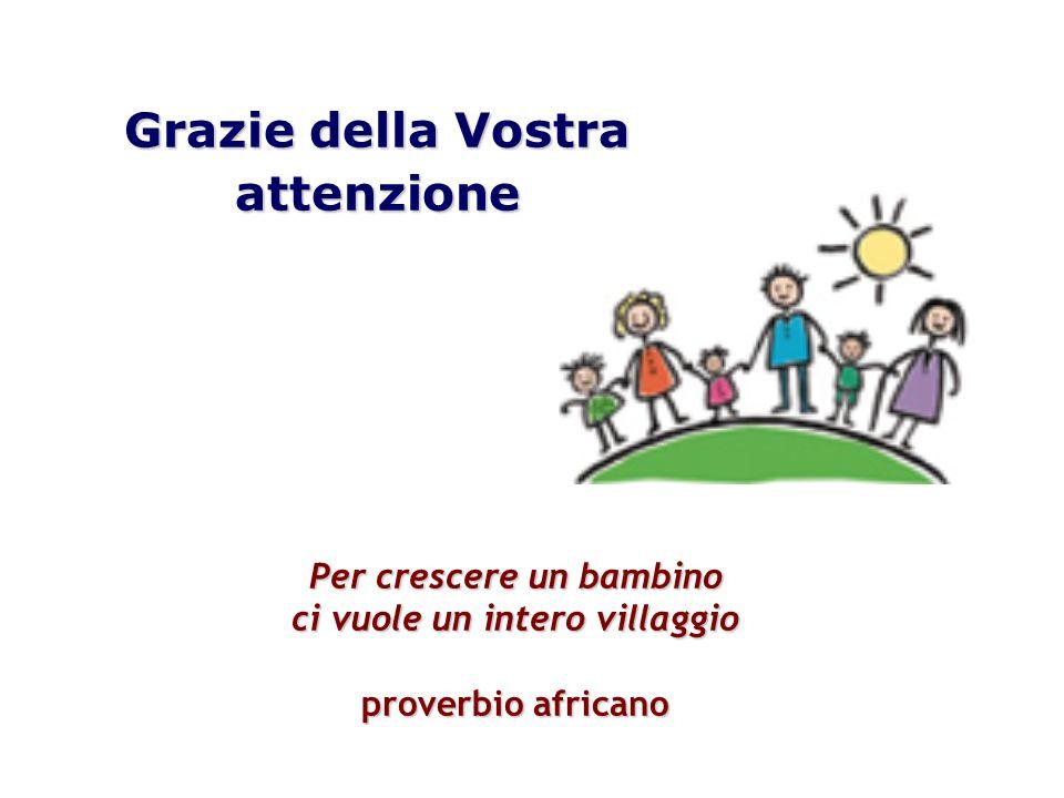Grazie della Vostra attenzione Per crescere un bambino ci vuole un intero villaggio proverbio africano