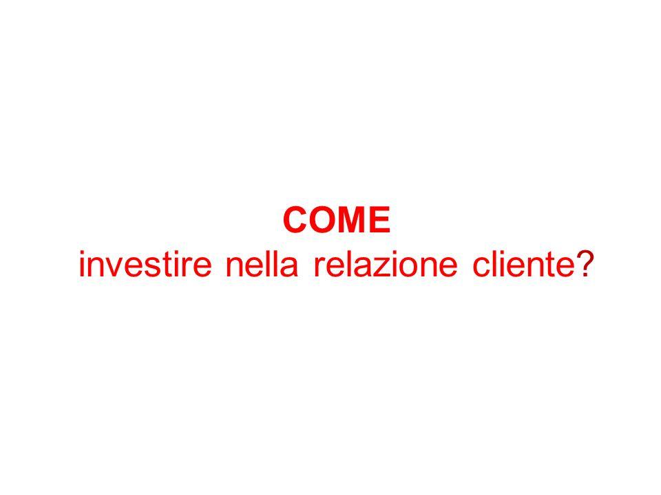 COME investire nella relazione cliente?