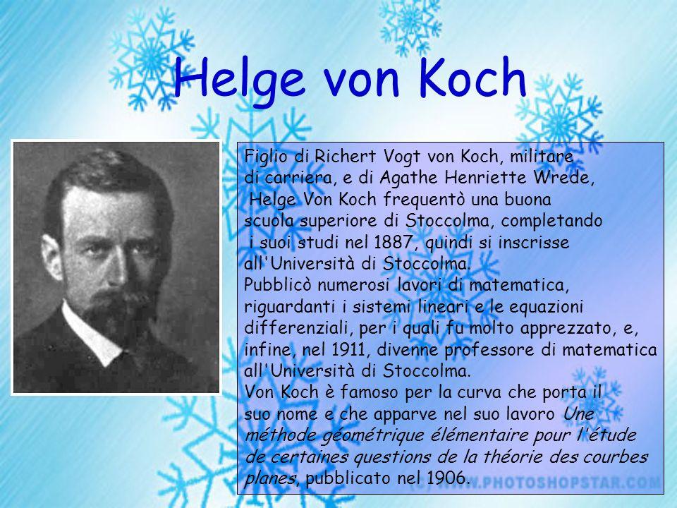 Helge von Koch Figlio di Richert Vogt von Koch, militare di carriera, e di Agathe Henriette Wrede, Helge Von Koch frequentò una buona scuola superiore
