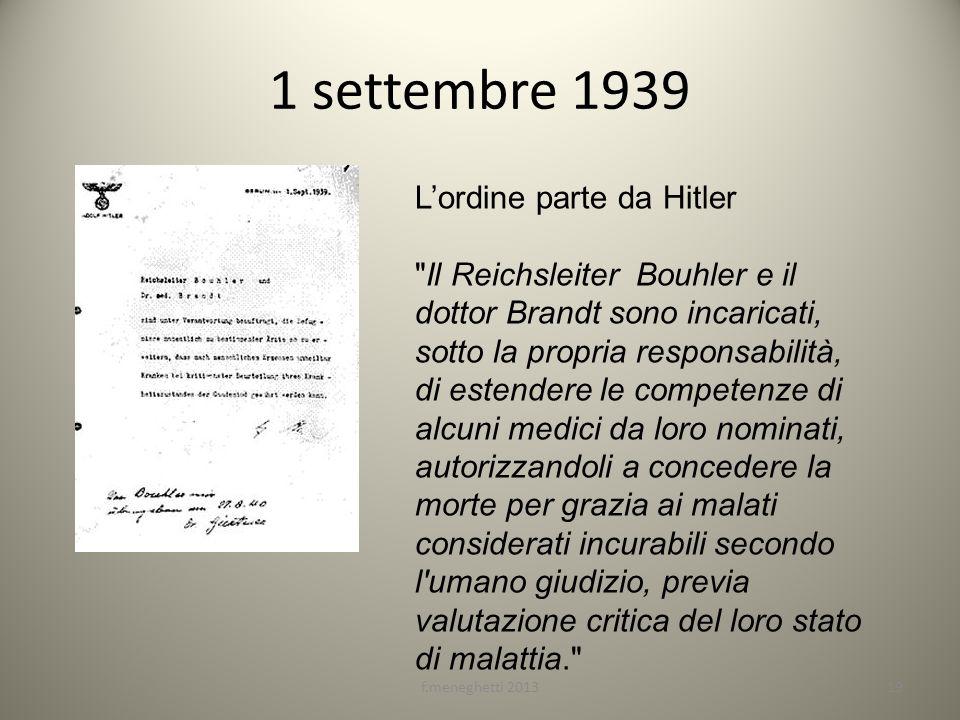 1 settembre 1939 f.meneghetti 201319 Lordine parte da Hitler