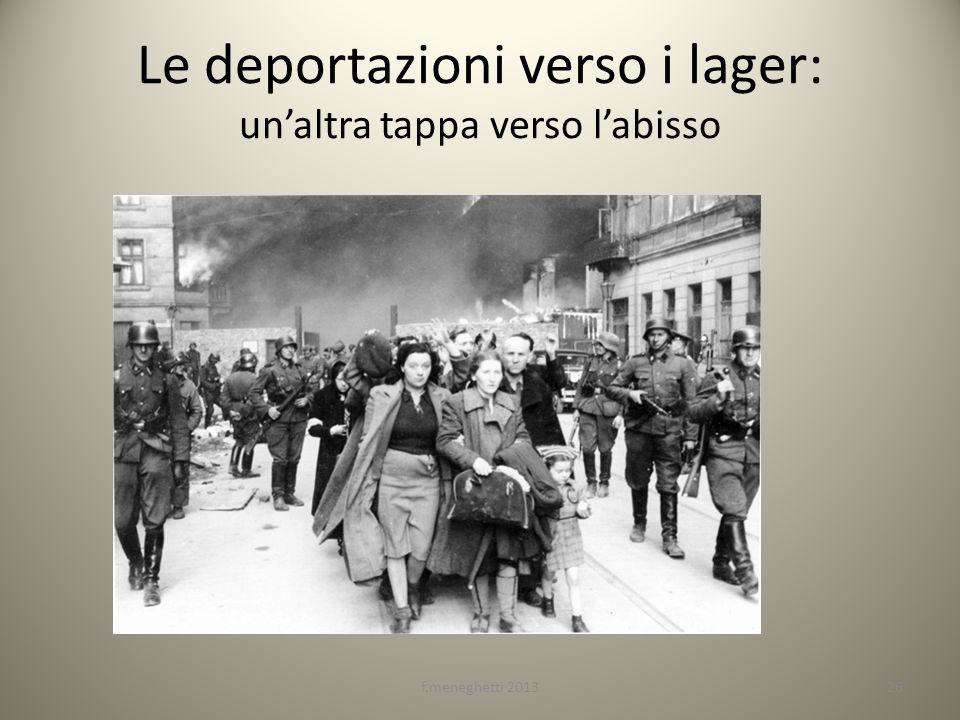 Le deportazioni verso i lager: unaltra tappa verso labisso 26f.meneghetti 2013
