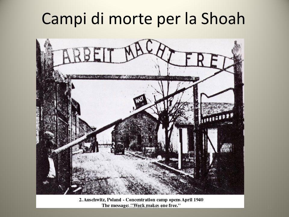 Campi di morte per la Shoah 31f.meneghetti 2013