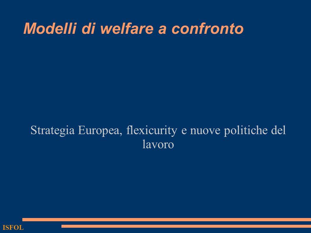 ISFOL Modelli di welfare a confronto Strategia Europea, flexicurity e nuove politiche del lavoro