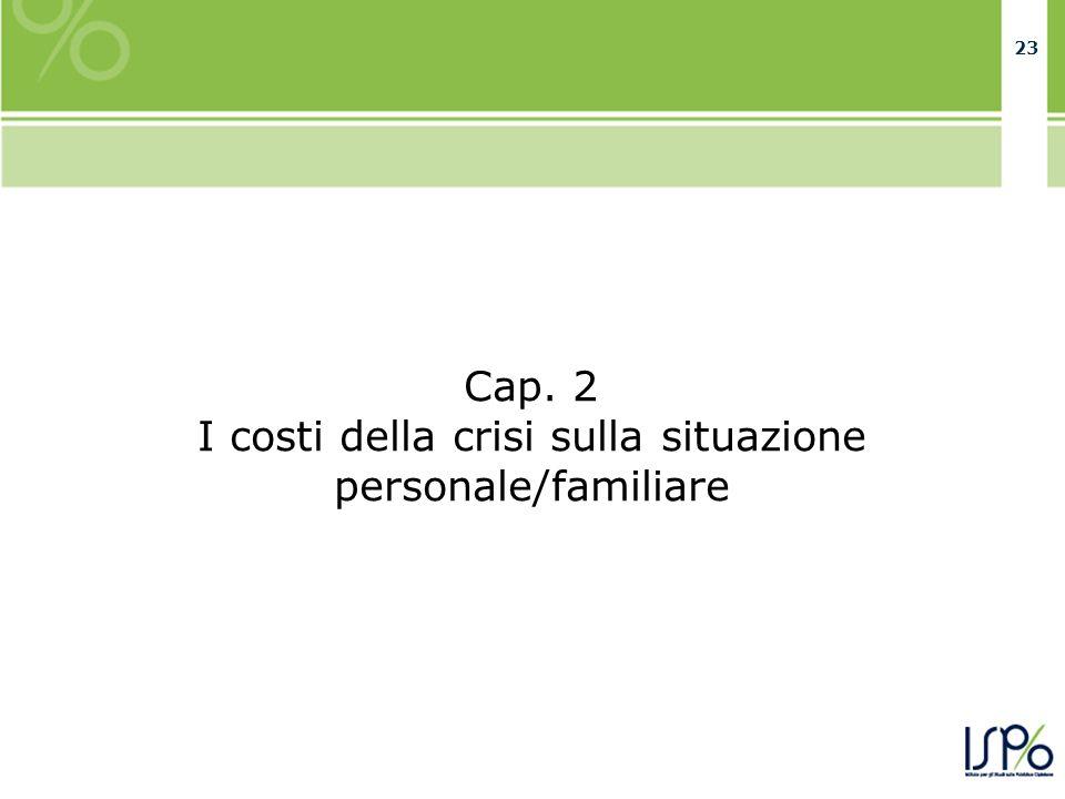 23 Cap. 2 I costi della crisi sulla situazione personale/familiare