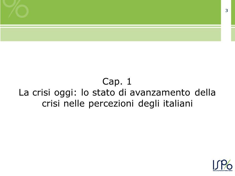 33 Cap. 1 La crisi oggi: lo stato di avanzamento della crisi nelle percezioni degli italiani