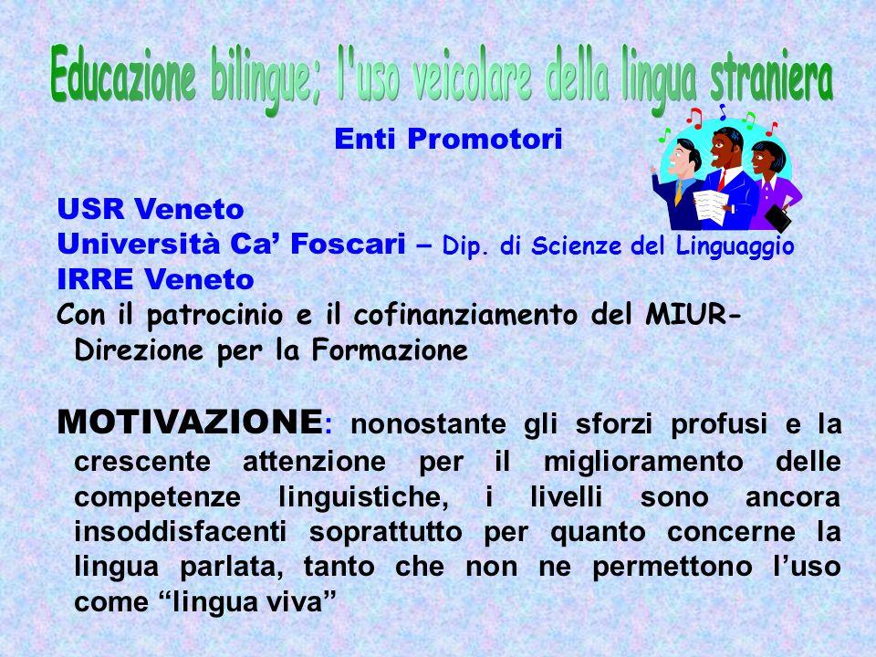 Enti Promotori USR Veneto Università Ca Foscari – Dip.