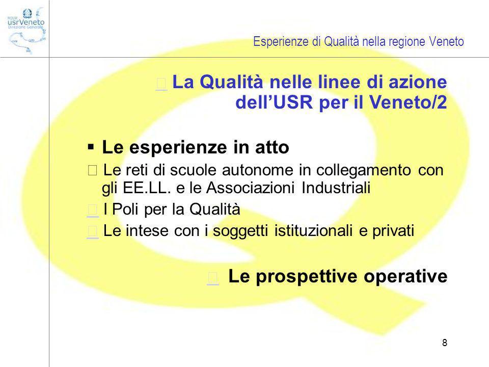 8 Le esperienze in atto  Le reti di scuole autonome in collegamento con gli EE.LL.