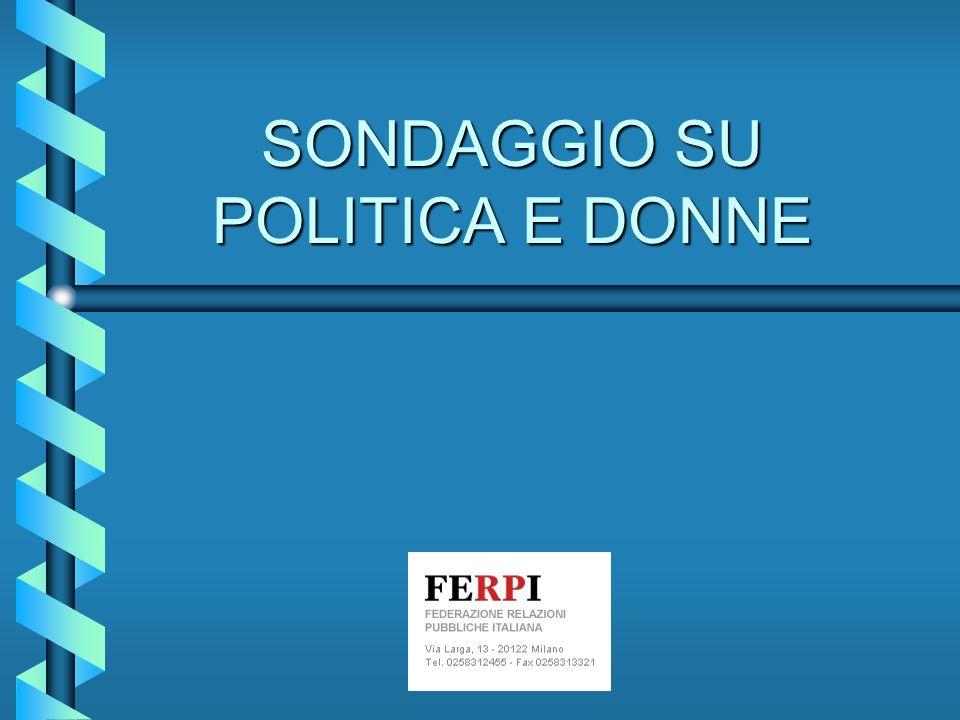 SONDAGGIO SU POLITICA E DONNE