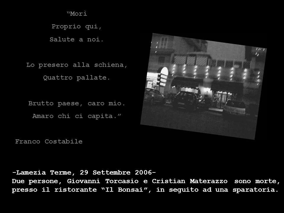 -C-CATANZARO, 12 Maggio 2006 – Due uomini, di cui non e' stata ancora accertata l'identità, sono stati uccisi stamane a Lamezia Terme. Due coltelli Lu