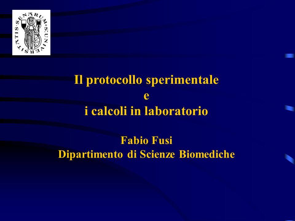 Il protocollo sperimentale