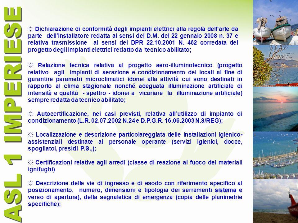 Dichiarazione di conformità degli impianti elettrici alla regola dell'arte da parte dellInstallatore redatta ai sensi del D.M. del 22 gennaio 2008 n.