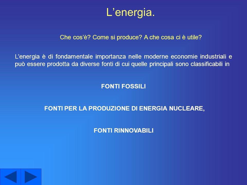 Le fonti di energia rinnovabile Energia eolicaEnergia solare e fotovoltaica Energia geotermicaEnergia idroelettrica