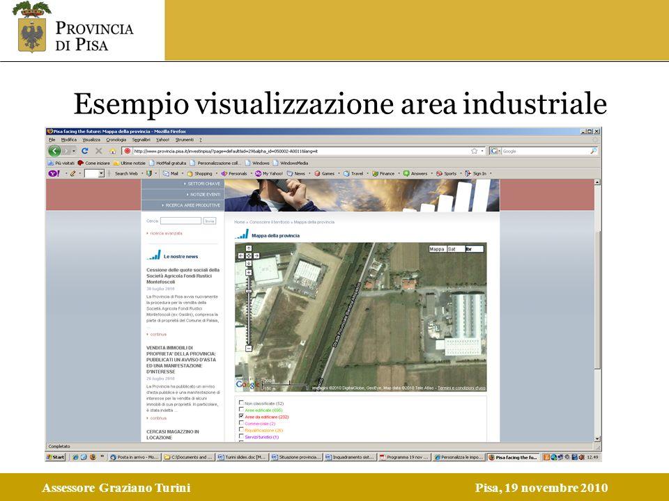 Assessore Graziano TuriniPisa, 19 novembre 2010 Esempio visualizzazione area industriale
