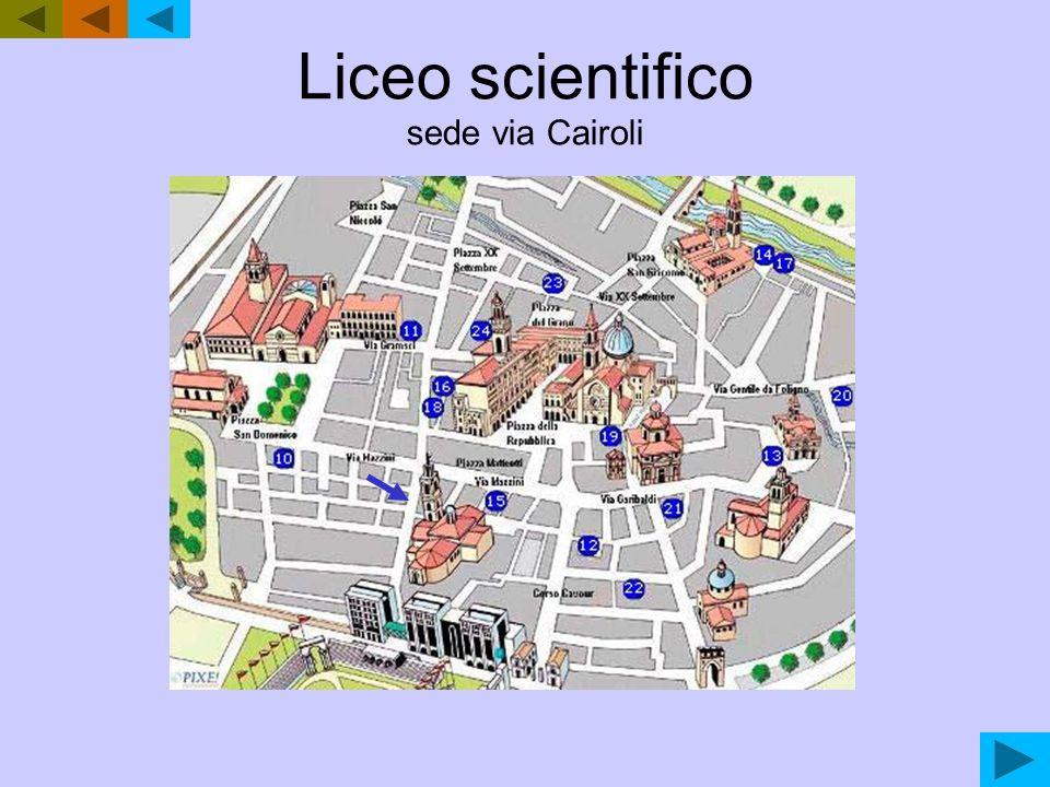 Liceo scientifico sede via Cairoli