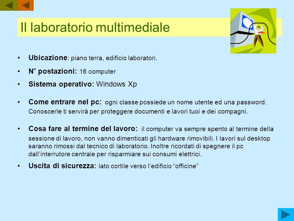 Regolamento del laboratorio multimediale (valido per gli studenti, il personale docente, il personale ATA, e gli ospiti occasionali) Fonti normative: D.P.R.