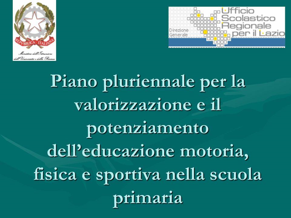 Piano pluriennale per la valorizzazione e il potenziamento delleducazione motoria, fisica e sportiva nella scuola primaria