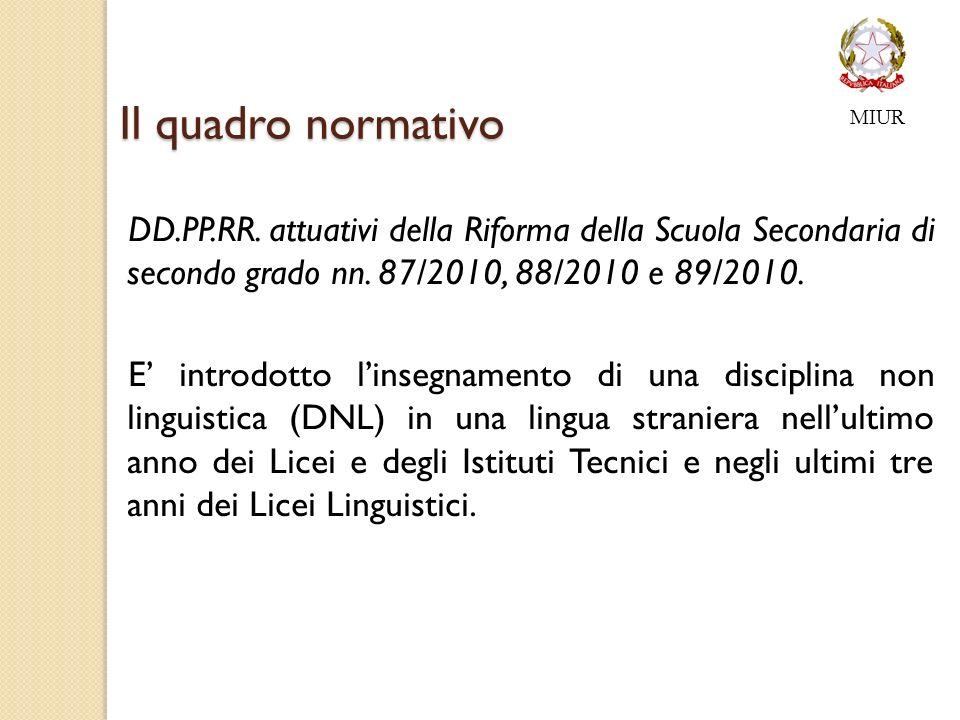 Il quadro normativo DD.PP.RR.attuativi della Riforma della Scuola Secondaria di secondo grado nn.