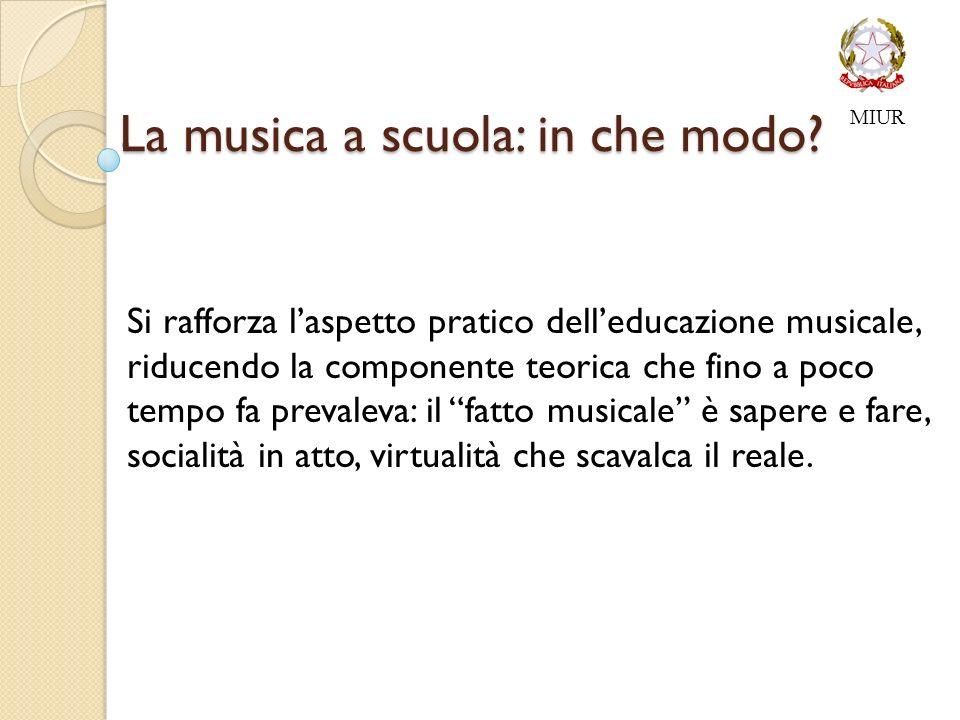 La musica a scuola: in che modo.La musica a scuola: in che modo.