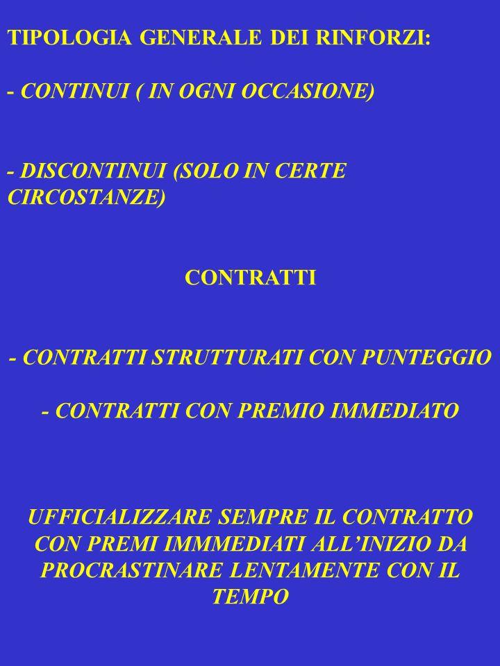TIPOLOGIA GENERALE DEI RINFORZI: - CONTINUI ( IN OGNI OCCASIONE) - DISCONTINUI (SOLO IN CERTE CIRCOSTANZE) CONTRATTI - CONTRATTI STRUTTURATI CON PUNTE
