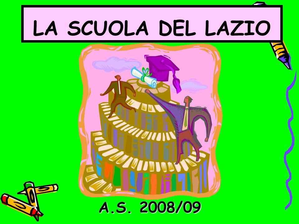 I PENSIONAMENTI NEL LAZIO SCUOLA DELL INFANZIA172 SCUOLA PRIMARIA462 SCUOLA SEC.