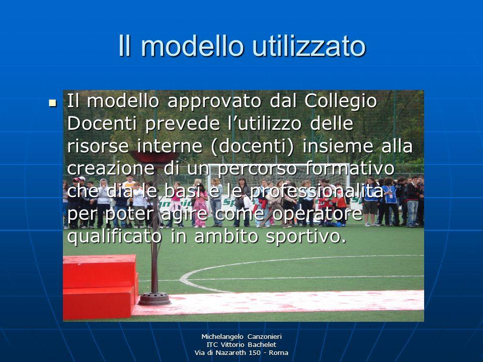 Michelangelo Canzonieri ITC Vittorio Bachelet Via di Nazareth 150 - Roma Il modello utilizzato Il modello approvato dal Collegio Docenti prevede lutil