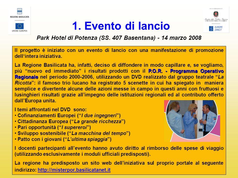 1. Evento di lancio Park Hotel di Potenza (SS.