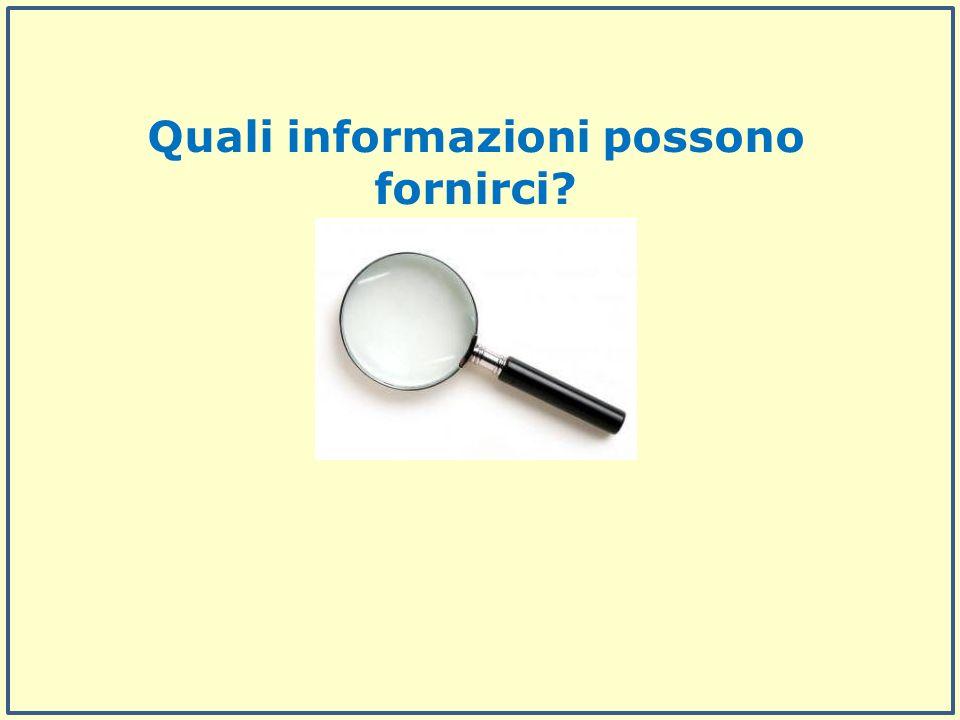 Quali informazioni possono fornirci