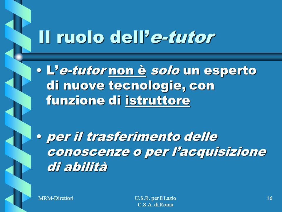 MRM-DirettoriU.S.R. per il Lazio C.S.A.